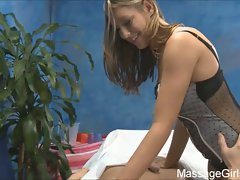 Lizzy london giving a hot and horny massage.