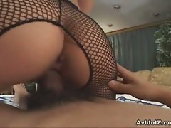 Horny japanese does a perfect hand and blowjob and gets a perfect fuck
