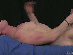 Hot and luscious hunk masturbating