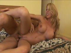 Blonde hot babe fucked hard in all positions
