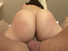 Big assed chick rides step dad