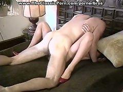 Horny chicks pleasure their men in hot vintage scenes
