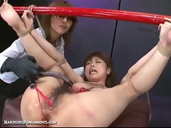 Japanese bondage sex with extreme bdsm punishment