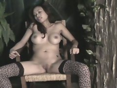 Lusty asian big tit babe shows off sexy body