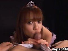 Asian princess babe gives a hot blowjob part3