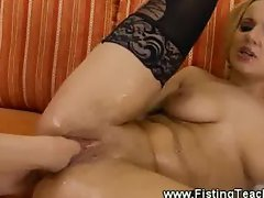 Watch her hole fist dissapear into her lovers pussy