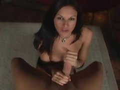 Hot Brunette gives amazing blowjob