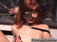 Kinky mom pussy drilled by a dildo part5