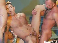 Extreme gay BDSM orgy video part4