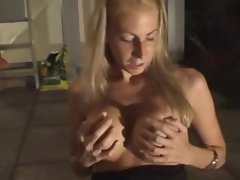 POV Blonde milf gets fucked at home
