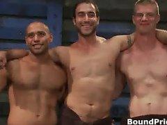 Three hot guys getting interviewed part4