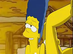 Homer gives Marge his boner in her pussy and then she blows him