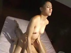 Beautiful Japanese tramp makes passionate love to her husband