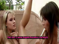 Aiden and Beatrice lovely lesbian teens toying