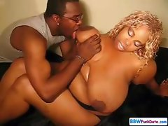 Very Large BBW Ebony Fucked