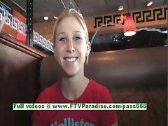 Alanna amazing blonde babe public flashing tits