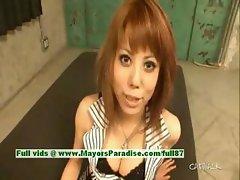 Rui Shiina innocent asian girl gets nipples licked and posing