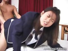 Nasty Japanese schoolgirl gets fingered part4