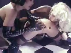 Lesbian Double Dildo Latex Fuck Anal Beads