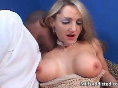 Lustful blonde MILF wants that huge