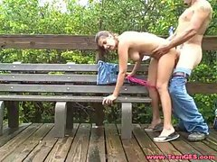 Couple fucking outdoor gets caught