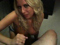 Blond blowing beauty