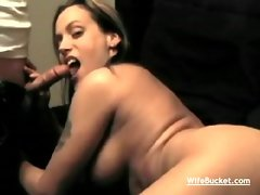 Busty wife fucked at home