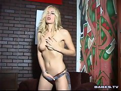 Crystal Klein slowly disrobes and makes all her friends horny