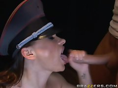 Katja Kassin gets a cumshot in her mouth after receiving anal sex