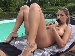 Sexy Regina Ice stuffing a hard toy in her sweet pink wet pussy