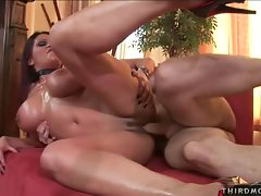 Ava Lauren fucks a huge dick with her huge MILF tits and gets her pussy wet