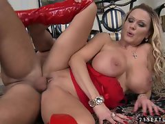 Sharon Pink takes a furious cock ramming by a monstrous pole