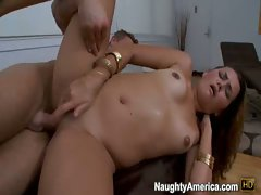 Allie Haze treats her tight pussy with hardcore big dick and welcomes the cum