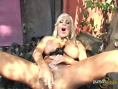 Puma Swede shows her snatch to a lovely rubber friend as they cross roads