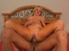 Whorey Sophie Dee loves pumping her tight wet clit with huge hard cock
