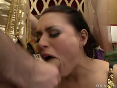 Cum lover Eva Angelina receives a hot flow of cock cream after a nice hot fuck