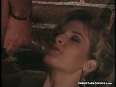 Busty Emily Hill gets a juicy load of cum in her hungry mouth