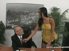Horny Mature Boss Fucks hot Secretary