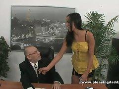 Horny Mature Boss Fucks hot Secretary
