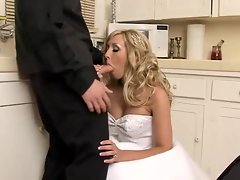 Bridal babe Jessica Lynn sucks in her wedding gown