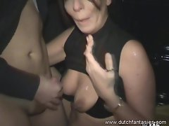 Cougar BJ Tastes Cum