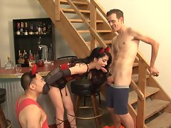 Jessi Palmer screws as her man watches