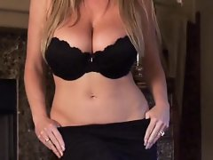 Big tit beauty queen Kelly Madison takes a big shot of cum on her