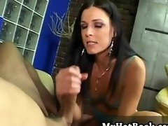 India Summer is a brunette with long hair who can