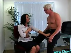 Cfnm office slut gets ahead