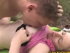 Amateur blonde gf gets hot