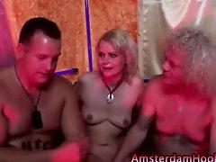 Amsterdam hooker spit roasted