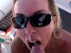 Nuting on a boat