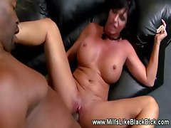 White milf loving black dick deep inside