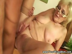 Grannies gets pussy pounded by younger guy